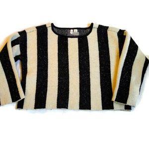 Moth Anthro Oversized Cropped Stripe Sweater XS